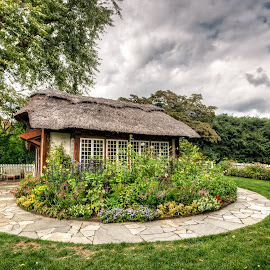 Storybook Land by Linda Karlin - City,  Street & Park  Vistas ( sky, park, trees, gardens, landscape )