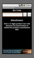 Screenshot of Product's Manufacturer