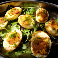 Crispy brown buttered eggs