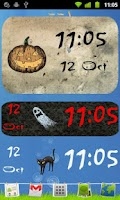 Screenshot of Halloween Clock Widget