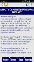Screenshot of Cognitive Styles CBT Test