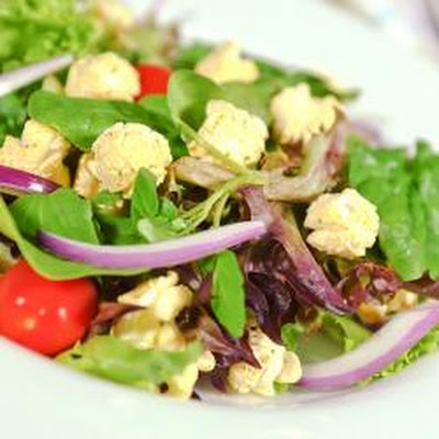 Garden Salad With Four Cheese Popcorn