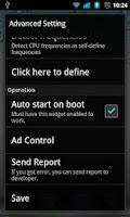 Screenshot of OverclockWidget (Need Root)