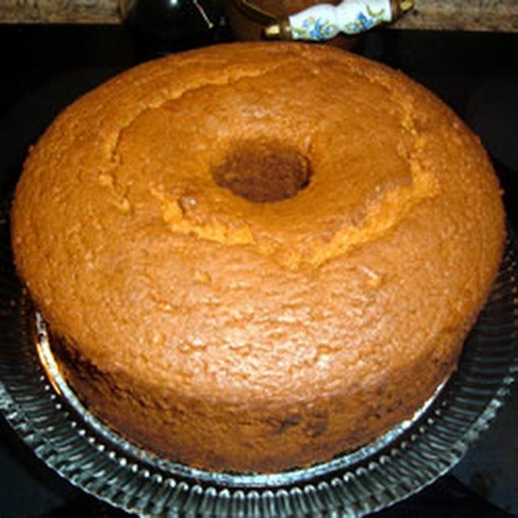 Burnt Sugar Chiffon Cake