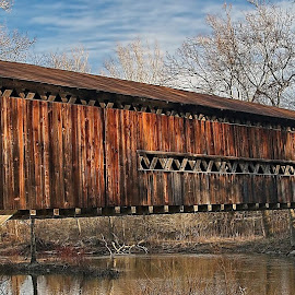 Ashtabula County Bridge by Bud Schrader - Buildings & Architecture Bridges & Suspended Structures ( americana, covered bridge, ashtabula county bridge, bridge )