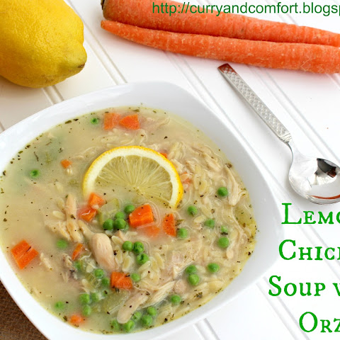 Lemony Chicken Soup with Orzo Pasta