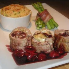 Goats Cheese Stuffed Pork Tenderloin With Red Wine Balsamic Cher