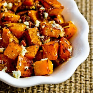Roasted Butternut Squash with Rosemary, Pecans, and Gorgonzola