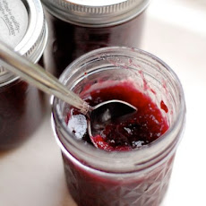 Blueberry Rhubarb Jam with Maple Syrup