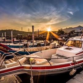 sunsets by Gary Lu - Transportation Boats ( gary-lu, sunsets )