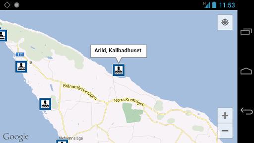 Badplatser - screenshot