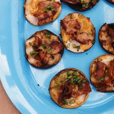 Grilled Apples with Bacon, Cheddar and Scallions
