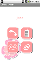 Screenshot of Contact Sweetie