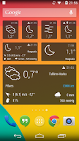 Screenshot of EMHI Weather