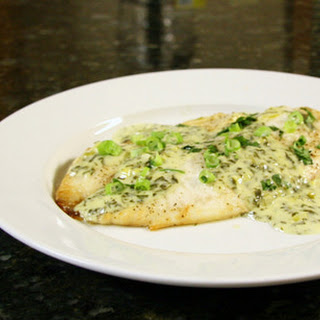 Tilapia With Cilantro Cream Sauce