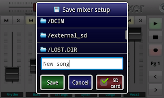 Screenshot of Wireless Mixer