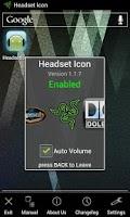Screenshot of Headset Icon