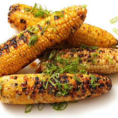 Grilled Corn with Garlic and Ginger Soy-Butter