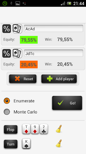 Poker Odds Range Calculator - screenshot