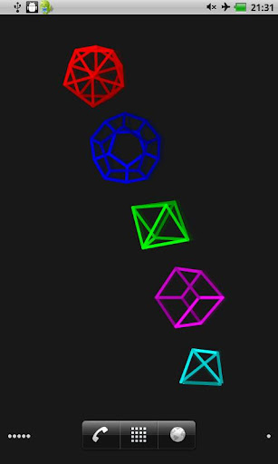 Polyhedra 배경 화면 라이브