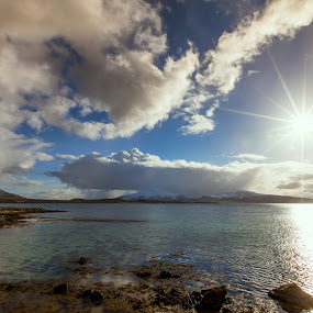 Clouds and sunshine by Benny Høynes - Landscapes Cloud Formations ( clouds, sky, snow, sea, sunshine, norway )