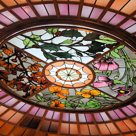 Four Seasons in Tiffany Glass by Ronda Stepler - Artistic Objects Glass