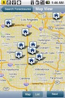 Screenshot of HUD Homes