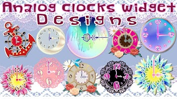 Screenshot of Analog clocks widget designs