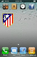 Screenshot of Atlético de Madrid Widget