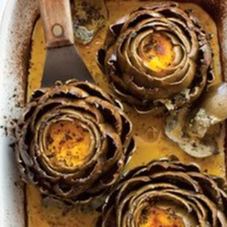Roasted Stuffed Artichokes with Mint Oil from 'The New Persian Kitchen'