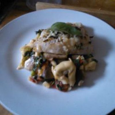 Grilled White Fish And Fresh Tortellini