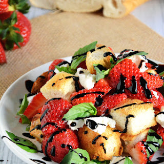 Honey & Strawberry Panzanella Salad