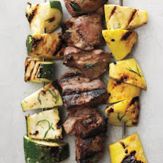 Zucchini, Lamb, and Summer Squash with Buttermilk Dill Marinade