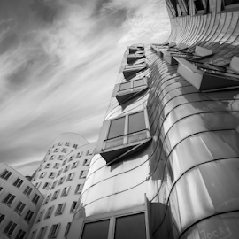 Steel & Air by Huub Keulers - Buildings & Architecture Other Exteriors ( clouds, building, sky, windows, steel, city,  )