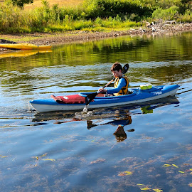 Kayaking Reflections by Kathy Suttles - Sports & Fitness Watersports