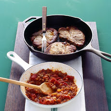 Pork Chops with Tomato Chutney