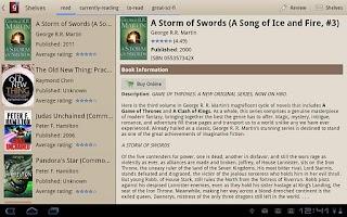 Screenshot of Goodreads Tab