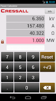 Screenshot of Ohm's Law/Power Law Calculator
