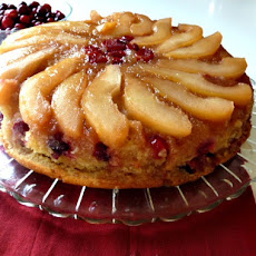 Pear Cranberry Upside- Down CakeAdapted from Allrecipes