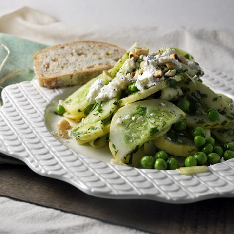 Minted Zucchini, Pea and Lemon Cucumber Salad