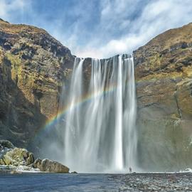 Beautiful Skogafoss by Joe Kirby - Landscapes Travel ( iceland, waterfall, skogafoss, landscape )