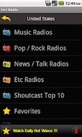 Screenshot of Hot Radio