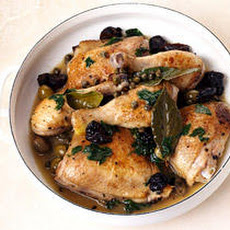 Braised Chicken with Prunes, Olives, and Capers Recipe