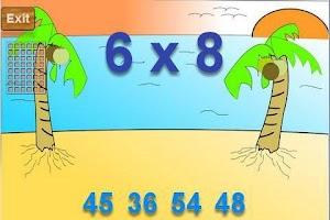 Screenshot of Times Table Flash Card Game