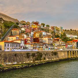 Guindais Porto by José Pedro Whiteman - City,  Street & Park  Historic Districts ( fortress, rio douro, portugal, invicta, douro, city, porto )