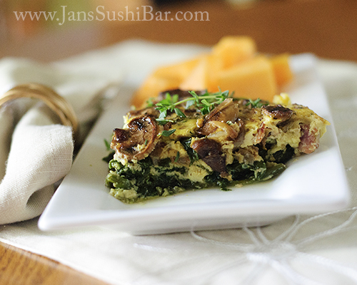 Mushroom and Spinach Quiche Recipe | Yummly