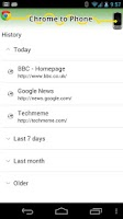 Screenshot of Google Chrome to Phone