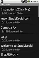 Screenshot of StudyDroid Flashcards 2.0-Free