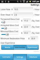 Screenshot of GlassRenu Job Estimation Tool