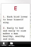 Screenshot of Best English Proverbs